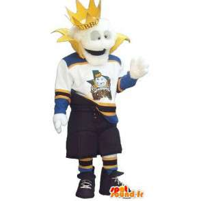 Nowoczesne Król maskotka w odzieży sportowej - Każdy rozmiar - MASFR001502 - sport maskotka