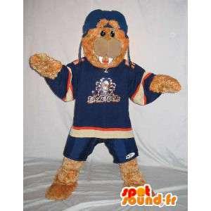 Mascota del vestido de noche del sello de deportes azul - MASFR001504 - Sello de mascotas