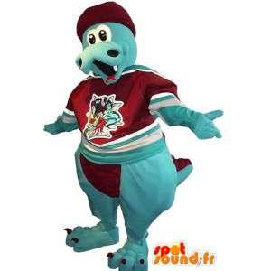 Dragon mascot blue velvet - Any size