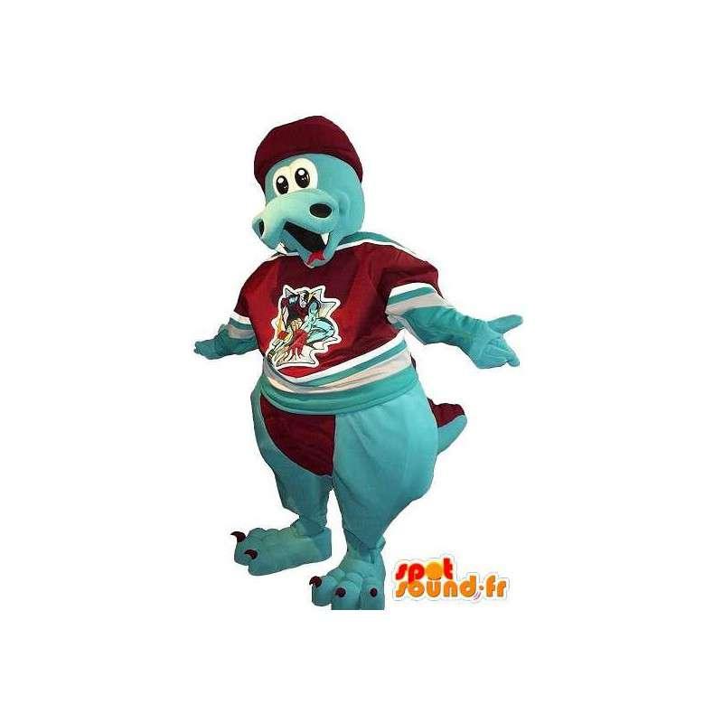 Dragon mascot blue velvet - Any size - MASFR001506 - Bear mascot