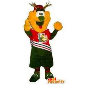 Mascot amarilla soporte palomitas - Cualquier tamaño - MASFR001508 - Mascotas de comida rápida