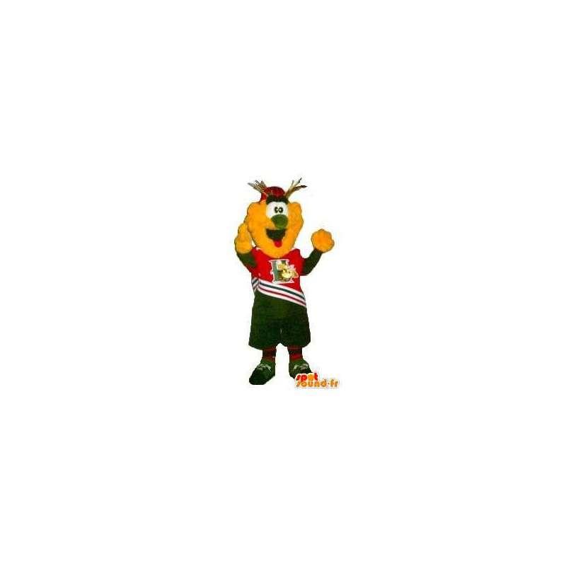 Mascotte de pop-corn jaune de supporter - Toute taille - MASFR001508 - Mascottes Fast-Food