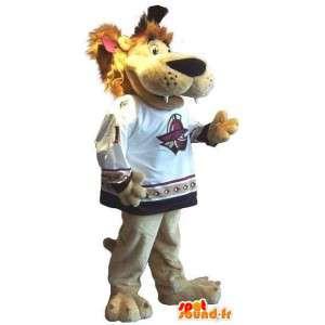 Lion Mascot wszystkie rozmiary do wspierania sportu