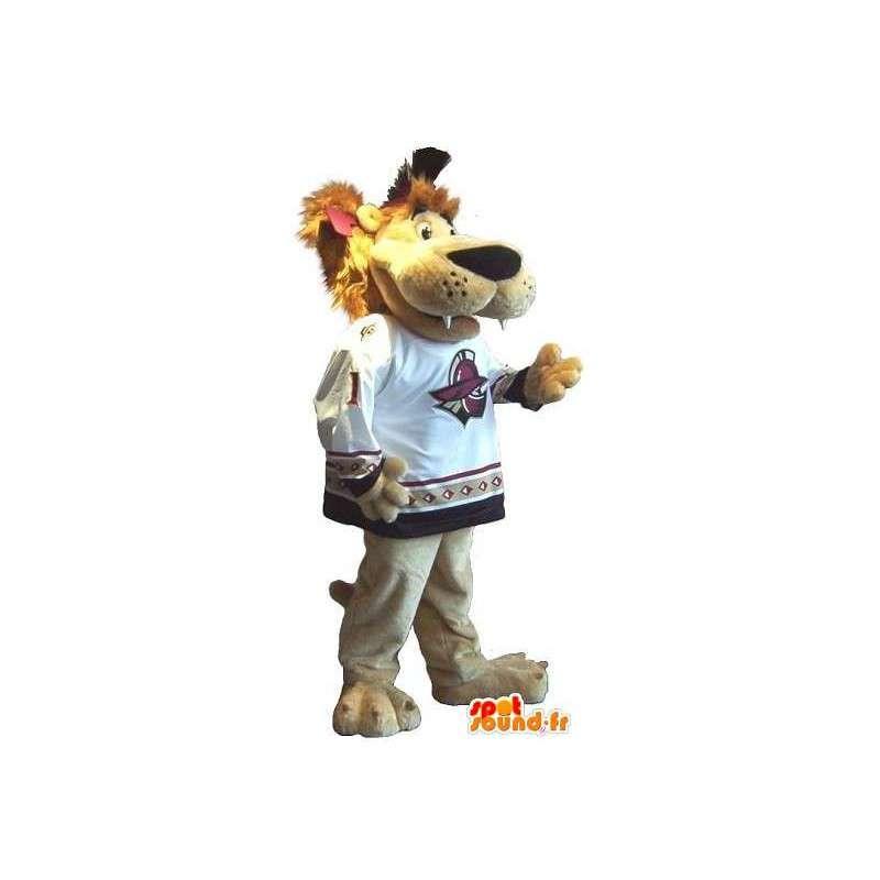 Mascotte del leone per gli sport a ventaglio tutte le dimensioni - MASFR001510 - Mascotte Leone