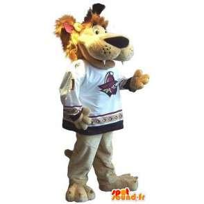 Mascotte de lion toutes tailles pour supporter sportif - MASFR001510 - Mascottes Lion