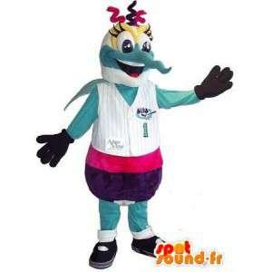 Femmelle sport mascotte zanzara tutte le dimensioni - MASFR001511 - Donna di mascotte