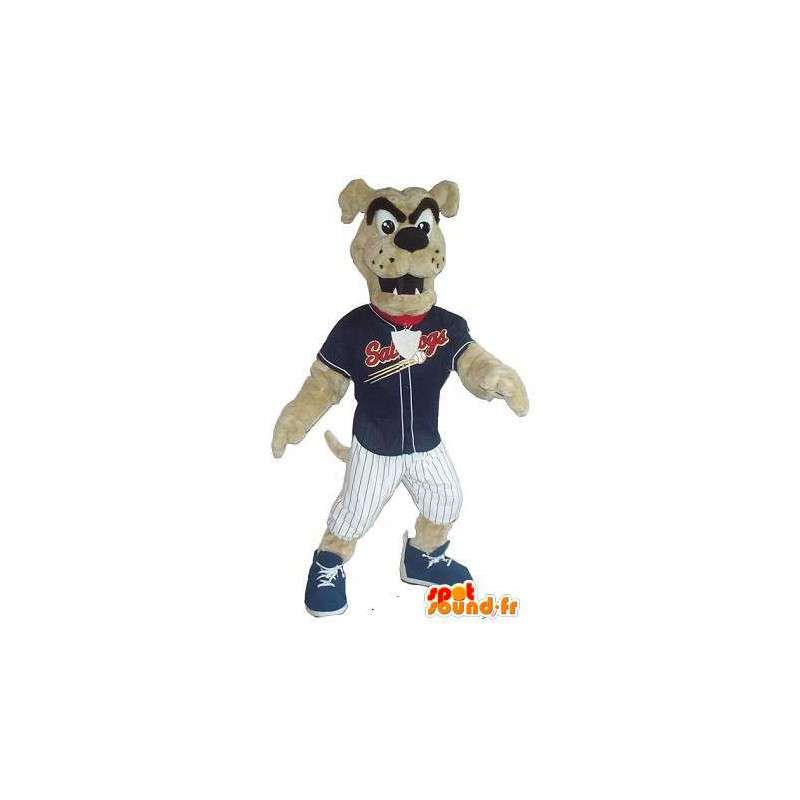 Mascotte de chien supporter de club de baseball - MASFR001512 - Mascottes de chien