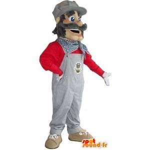 Mascotte de personnage de BTP - Entreprise du bâtiment