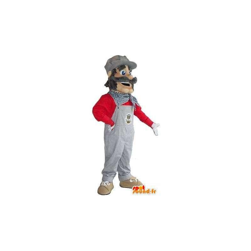 Maskottchen-Buchstaben-Bau - Unternehmen - MASFR001513 - Menschliche Maskottchen