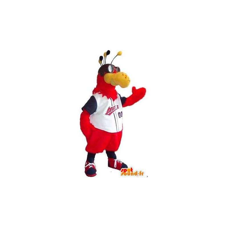 Sports bee mascotte in uw kleuren voor sport - MASFR001516 - Bee Mascot