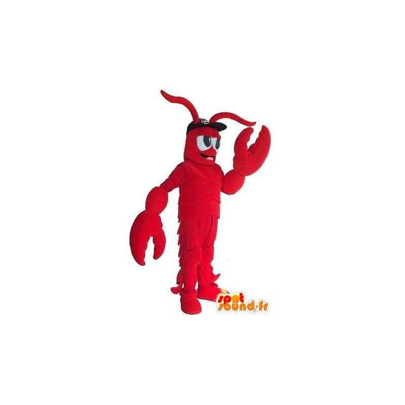 Mascot roten Hummer mit Zubehör jeder Größe - MASFR001518 - Maskottchen Hummer