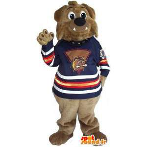 Mascotte d'ours marron pour supporter toutes tailles