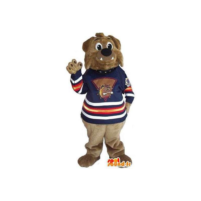 Μασκότ καφέ αρκούδα να υποστηρίξει όλα τα μεγέθη - MASFR001521 - Αρκούδα μασκότ