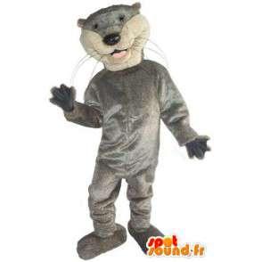 μόνο οι βασικοί και σπορ γκρι μασκότ γάτα - MASFR001523 - Γάτα Μασκότ