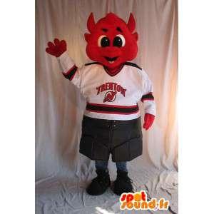 Mascot Red Devil para suporte - customizável - MASFR001525 - animais extintos mascotes