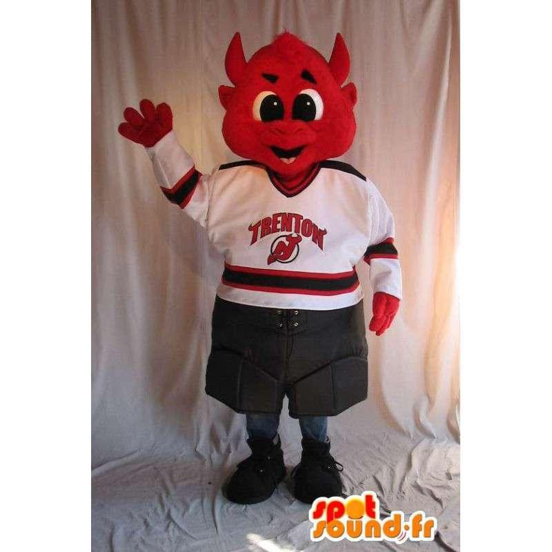 Devil Red mascotte per il supporto - personalizzabile - MASFR001525 - Mascotte animale mancante