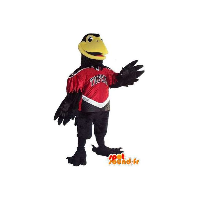 Eagle mascot / black Cordeau to support any size - MASFR001524 - Mascot of birds