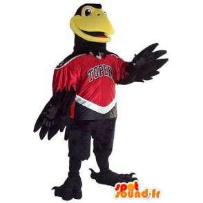 Maskotti Eagle / musta Cordeau tukea kaiken kokoisille - MASFR001524 - maskotti lintuja