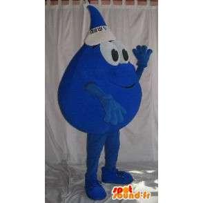 Déguisement goutte d'eau avec casquette - Mascotte en peluche - MASFR001527 - Mascottes non-classées