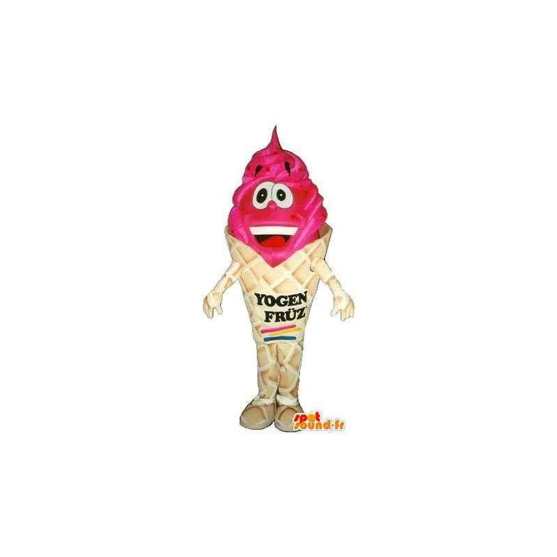 Eistüte Maskottchen roten Früchten - Disguise Qualität - MASFR001528 - Fast-Food-Maskottchen