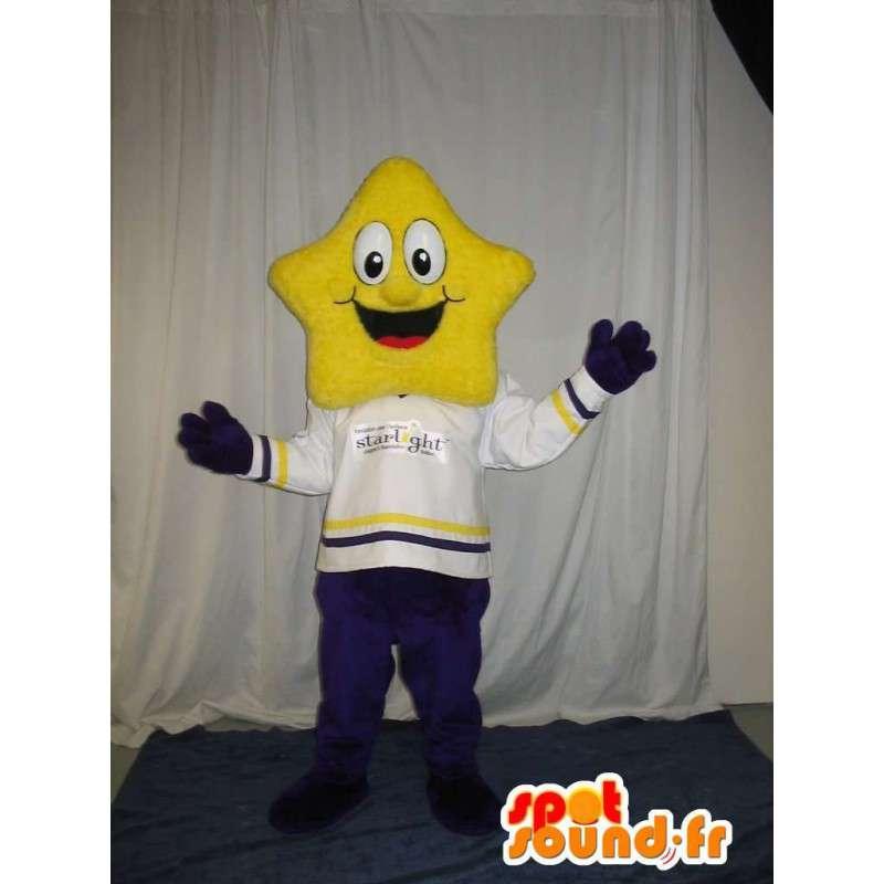 χαρακτήρα κοστούμι με ένα κίτρινο κεφάλι αστέρων - MASFR001532 - Μη ταξινομημένες Μασκότ
