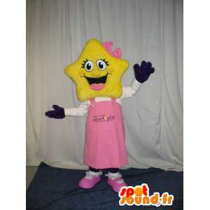 Character mascot head with star and blue pants