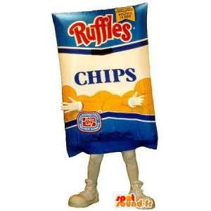 Pacote de batatas fritas mascote - Disfarce todos os tamanhos