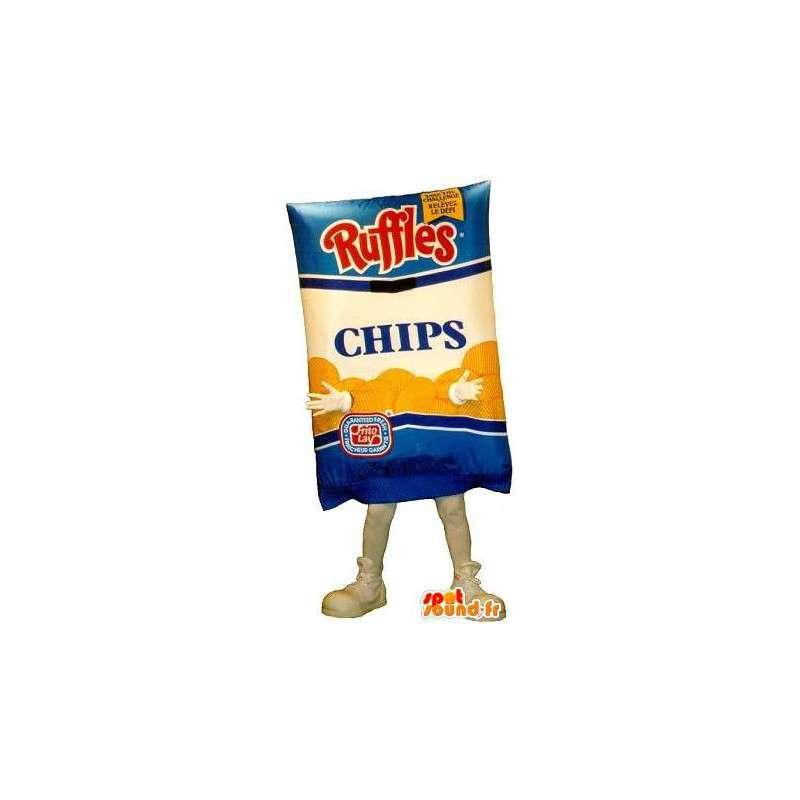 Pakke potetgull maskot - Disguise alle størrelser - MASFR001537 - Fast Food Maskoter