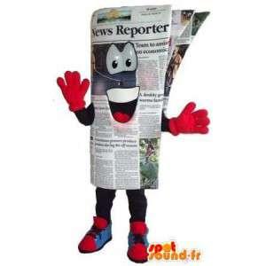 Naamioida ihmisen kokoinen sanomalehti - sanomalehti Mascot