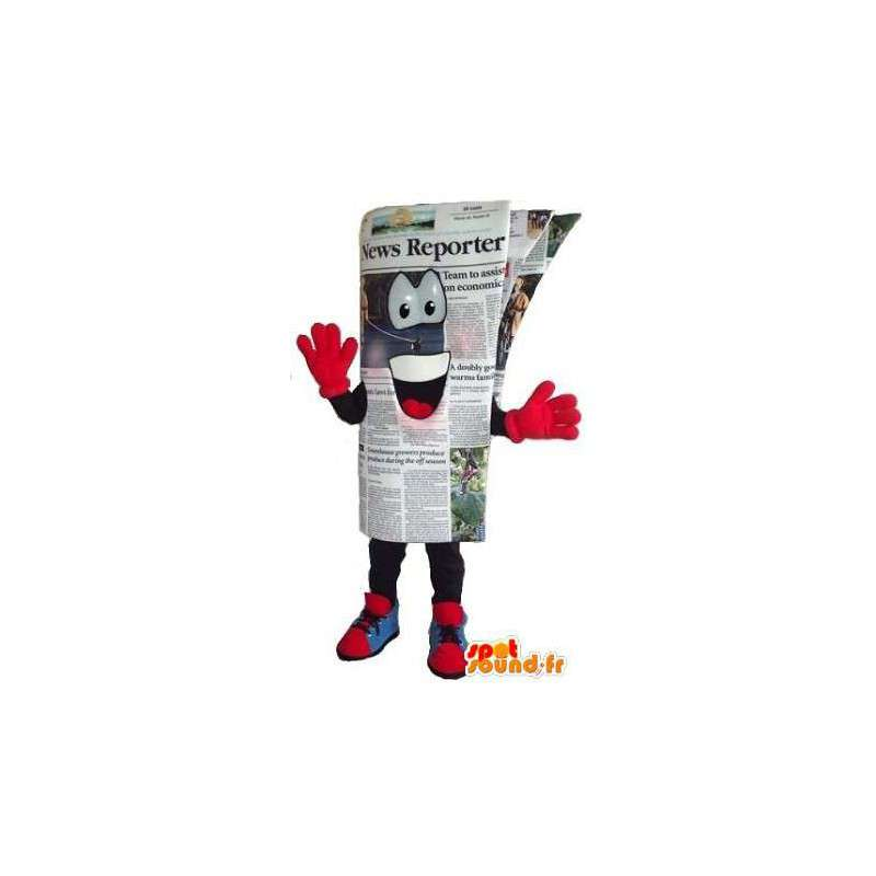 Travestimento log dimensione umana - giornale Mascot - MASFR001538 - Mascotte di oggetti