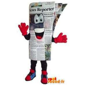 Naamioida ihmisen kokoinen sanomalehti - sanomalehti Mascot - MASFR001538 - Mascottes d'objets