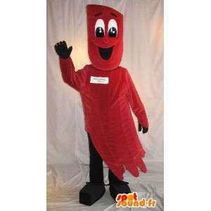 Röd stjärndräktdräkt - plyschmaskot - Spotsound maskot
