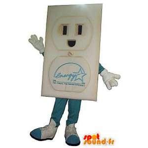 Elektrisk plug karaktär kostym - Spotsound maskot
