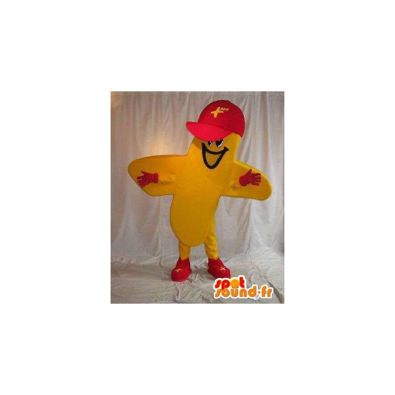 Gele kruis vormige karakter kostuum - MASFR001549 - Niet-ingedeelde Mascottes