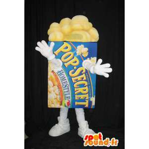 Pakke med popcorn maskot - Mascot alle størrelser