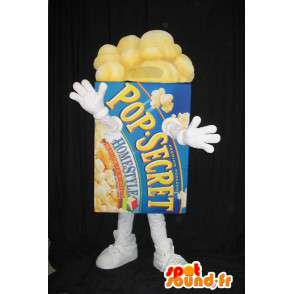 Mascot package of popcorn - Mascot all sizes - MASFR001550 - Fast food mascots