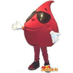 Κοστούμια σταγόνα αίματος - μασκότ βελούδου