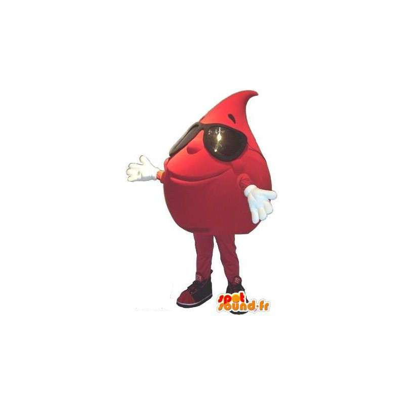 Κοστούμια σταγόνα αίματος - μασκότ βελούδου - MASFR001554 - Μη ταξινομημένες Μασκότ