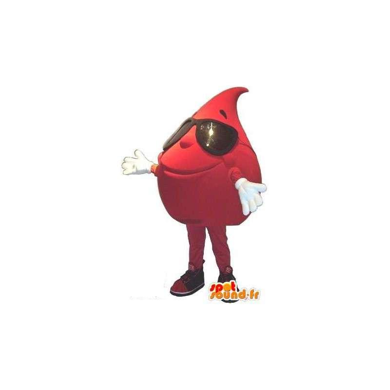 Déguisement goutte de sang - Mascotte en peluche - MASFR001554 - Mascottes non-classées