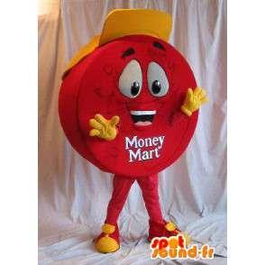 Mascot punto rojo y sombrero amarillo - MASFR001557 - Mascotas de comida rápida