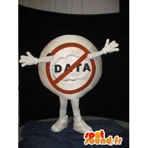 Mascotte panneau d'interdiction - Déguisement STOP