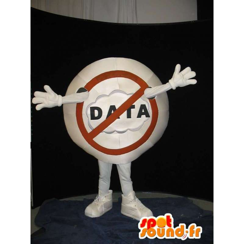 Mascot kielto merkki - STOP Disguise - MASFR001559 - Mascottes d'objets