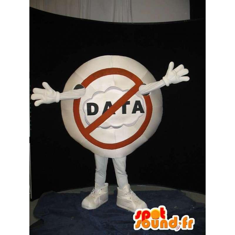 Mascot segnale di divieto - Disguise ARRESTO - MASFR001559 - Mascotte di oggetti