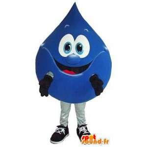 Mascotte goutte d'eau avec sourire - Déguisement de qualité
