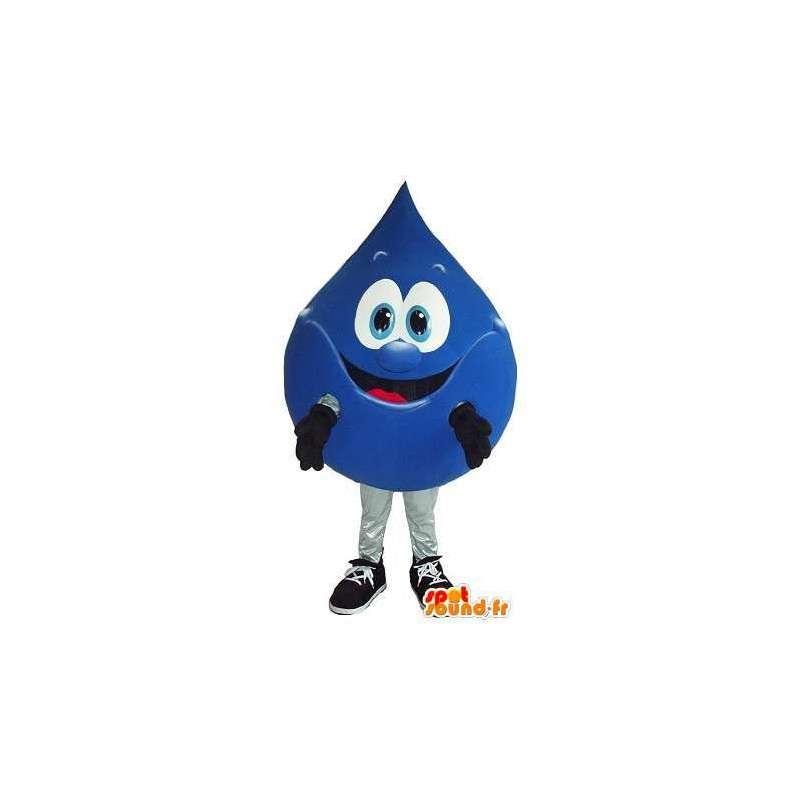Mascotte goutte d'eau avec sourire - Déguisement de qualité - MASFR001562 - Mascottes non-classées