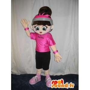 Maskotti Betty Boop luistelija näyttää trendikäs