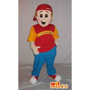 Casual jonge mascotte hip-hop stijl