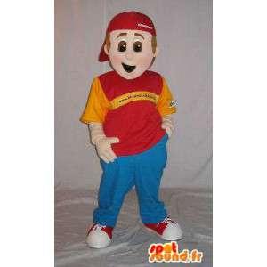 Mascotte de jeune décontracté au style hip-hop