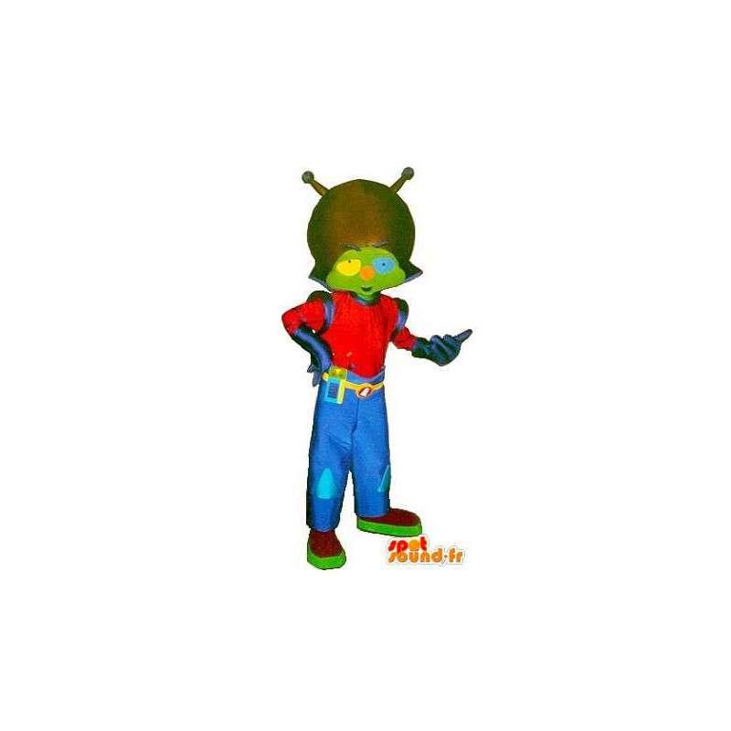 Mascota marciana moda traje azul y rojo - MASFR001575 - Mascotas animales desaparecidas