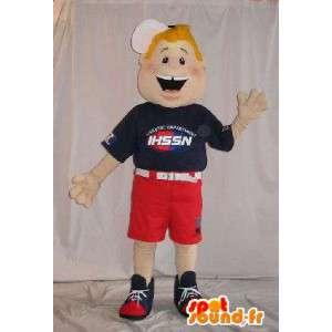 Mascotte garçon américain en culottes courtes
